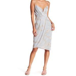 Free People Metallic Print Dress Sz 10 NWT